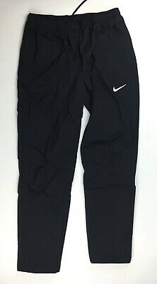 Nike Running Woven Pant Zippered Pockets Cuff Reflective Men's L AJ3639 Black