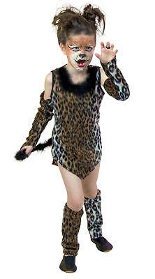 Wildkatze Gr.140 Katze Kostüm Leopard Kinder Tierkostüm Karneval - Wilde Katze Kostüm Kinder