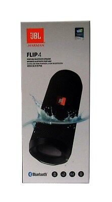 JBL Flip 4 Waterproof Portable Bluetooth Speaker Black - Sealed NEW *FLIP4BLK