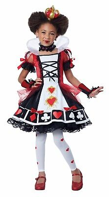 White Queen Costume Alice In Wonderland (Deluxe Queen of Hearts Alice In Wonderland Child Costume)