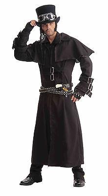 Steampunk Black Duster Coat Costume Adult Size Standard](Costume Duster Coat)