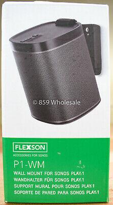 Flexson FLXP1WM1021 Wall Mount for Sonos Play:1 Speaker P1-WM (SINGLE) Black A5