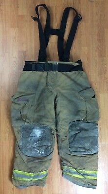 Globe Gxtreme Firefighter Bunker Turnout Pants W Suspenders 40 X 30 07