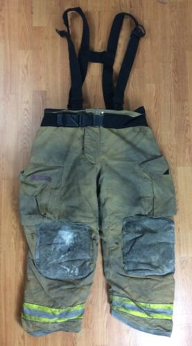 Globe GXtreme Firefighter Bunker Turnout Pants w/ Suspenders 40 x 30