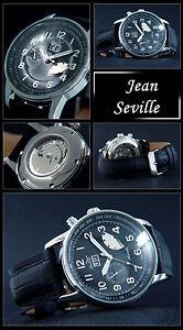 Automatico-Reloj-De-Hombre-JEAN-SEVILLE-GANG-Reserva-Dia-NOCHE