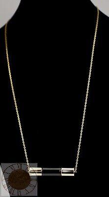 Michael Kors Women's Gold-Tone Barrel Necklace MKJ4573, New