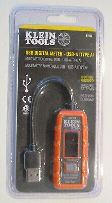 Klein Tools Et900 Usb Digital Meter Usb-a Type A Brand New Sealed