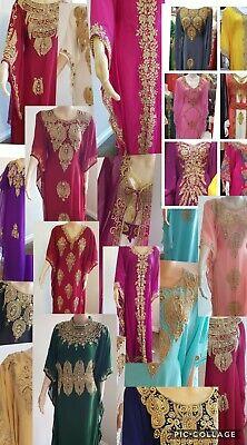 ***SALE ***Heavy Dubai Abaya Kaftan Farasha Jalabiya maxi Dress Wedding Moroccan
