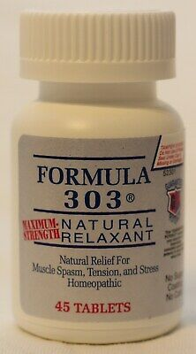 Formula 303 - Natural Muscle Spasm Relaxer & Pain Reliever - 45 Tablets
