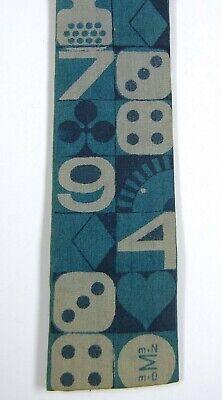 1960s – 70s Men's Ties | Skinny Ties, Slim Ties Vintage 1960s Eames / Knoll Era ROOSTER Skinny NECK TIE Casino Graphics GAMBLER $9.99 AT vintagedancer.com