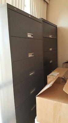 Hon And Holga 6-shelf Steel Receding Door File Cabinet