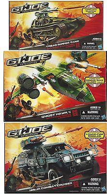 G.I. Joe Retaliation GHOST HAWK+NINJA COMBAT CRUISER+TREAD RIPPER TANK Vehicle