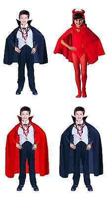 RED BLACK CHILD CAPE DRACULA VAMPIRE MAGICIAN GOTHIC SUPERHERO COSTUME CAPE