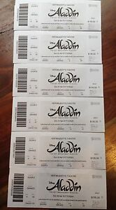 Aladdin x6 tickets - TONIGHT 6.30pm ROW A at her Majesty's theatre Mount Waverley Monash Area Preview