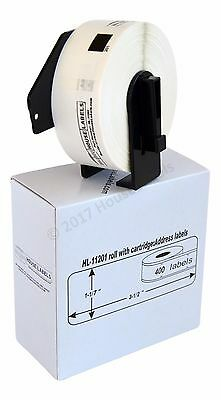 Non-oem Fits Brother Dk-1201 Labels - 1 Roll Of 400 With Permanent Frames