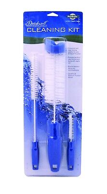 Drinkwell Pet Dog Cat Water Fountain 3 Brush Cleaning Kit for Pagoda Seascape