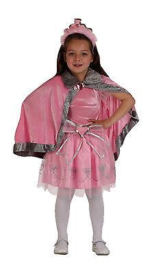 edles Kostüm Prinzessin ROSA Gr.128/146 Kleid Kopfschmuck Umhang Märchen