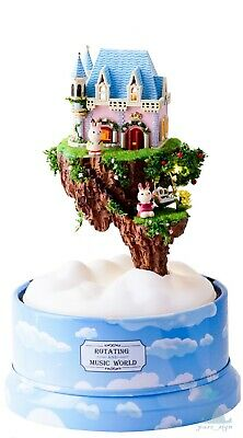 HIY Handcraft Dolls House Miniature Rotating Music World Castle in the Sky for sale  Shipping to United States