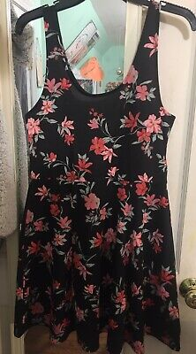 NWT H&M Floral Skater Dress / Fit And Flare / Divided / Size 12 / BRAND NEW