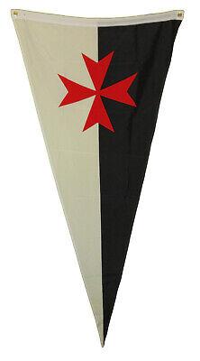 templar knights battle flag pennant 3 x