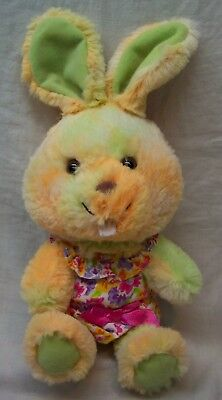 """Build A Bear TIE DYED BUNNY RABBIT IN FLOWER OUTFIT 10"""" Plush Stuffed Animal TOY"""