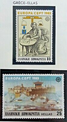 2 X Timbre Stamp Grèce Ellas Greece 1983 Neufs YT 1491 1492 EUROPA CEPT