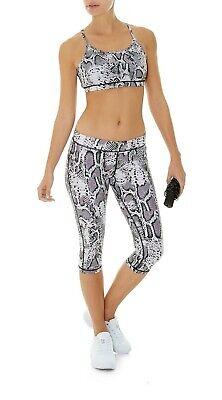 HPE Clothing Human Performance Designer Active Snake Sports Bra L Kardashian