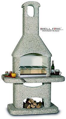 Wellfire Gartengrillkamin NOVA Braun 205 x 110 x 73 cm