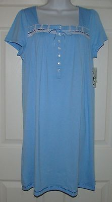 WOMENS SIZE MEDIUM KIM ROGERS KNEE LENGTH SHORT SLEEVE NIGHTGOWN NWT GOWN ()