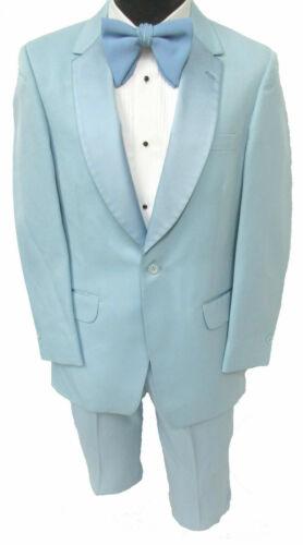 Boys Size 9 Vintage Light Blue Tuxedo Jacket with Pants Retro 1970