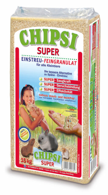 15kg Chipsi Super Heimtierstreu Streu Kleintier Weichholz Einstreu geruchbindend