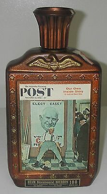 Bottle/DECANTER Jim Beam 1976 BiCentennial Series Norman Rockwell Elect Casey.