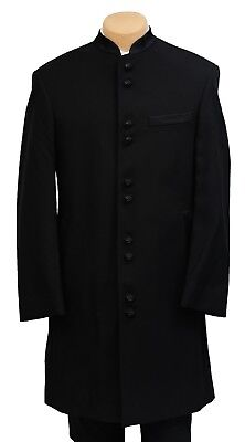 40R New Mandarin Tuxedo Frock Coat Halloween Costume Long Western Duster