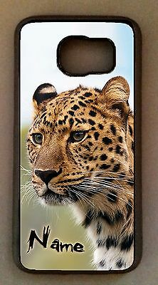 Personalized Cheetah Cell Phone Case Black Rubber Cel Cover For Smart Mobile New