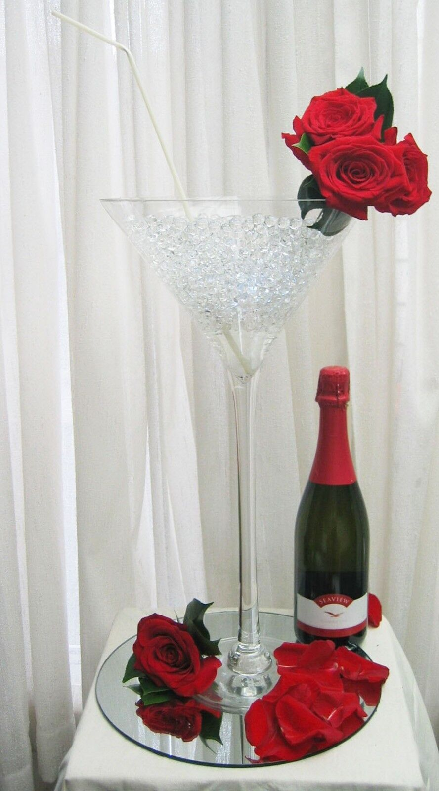 Martini glass vase quot wedding centerpiece tall