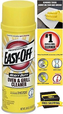 Easy-Off Professional Oven & Grill Clean Heavy Duty BBQ Spray Cleaner 24 Ounce