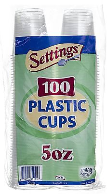 Settings Clear Plastic Disposable Cups, 5oz, 300 - Disposable Plastic Mason Jar Cups