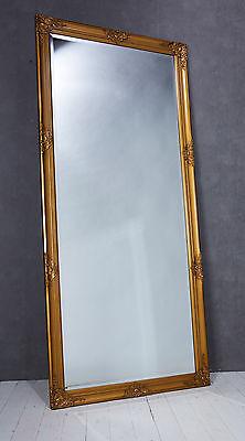 Wandspiegel Spiegel gold 180 x 80 cm Antik-Stil barock m. Facettenschliff