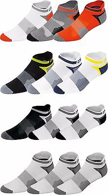 ASICS MENS QUICK LYTE 3 PACK CUSHION SINGLE TAB SOCKS (Single Pack Socks)
