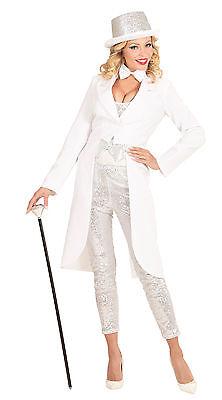 Showgirl Frack weiß NEU - Damen Karneval Fasching - Show Girl Kostüme