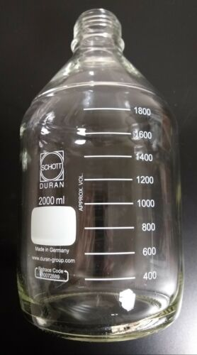 CASE OF 10 Laboratory Bottle (2L) SCHOTT Glass - no lid