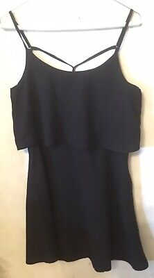 ABERCROMBIE & FITCH BLACK MINI DRESS SMALL WOMEN'S LIGHTWEIGHT LAYERED TOP