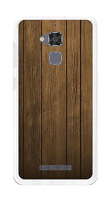 8330 Gel (Hülle Gel- TPU für Asus Zenfone 3 Max ZC520TL Zeichnung Holz)