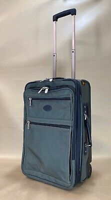 """Kirkland Signature Green 22"""" Upright Expandable Wheeled Carry On Suitcase Upright 22 Expandable Carry On"""