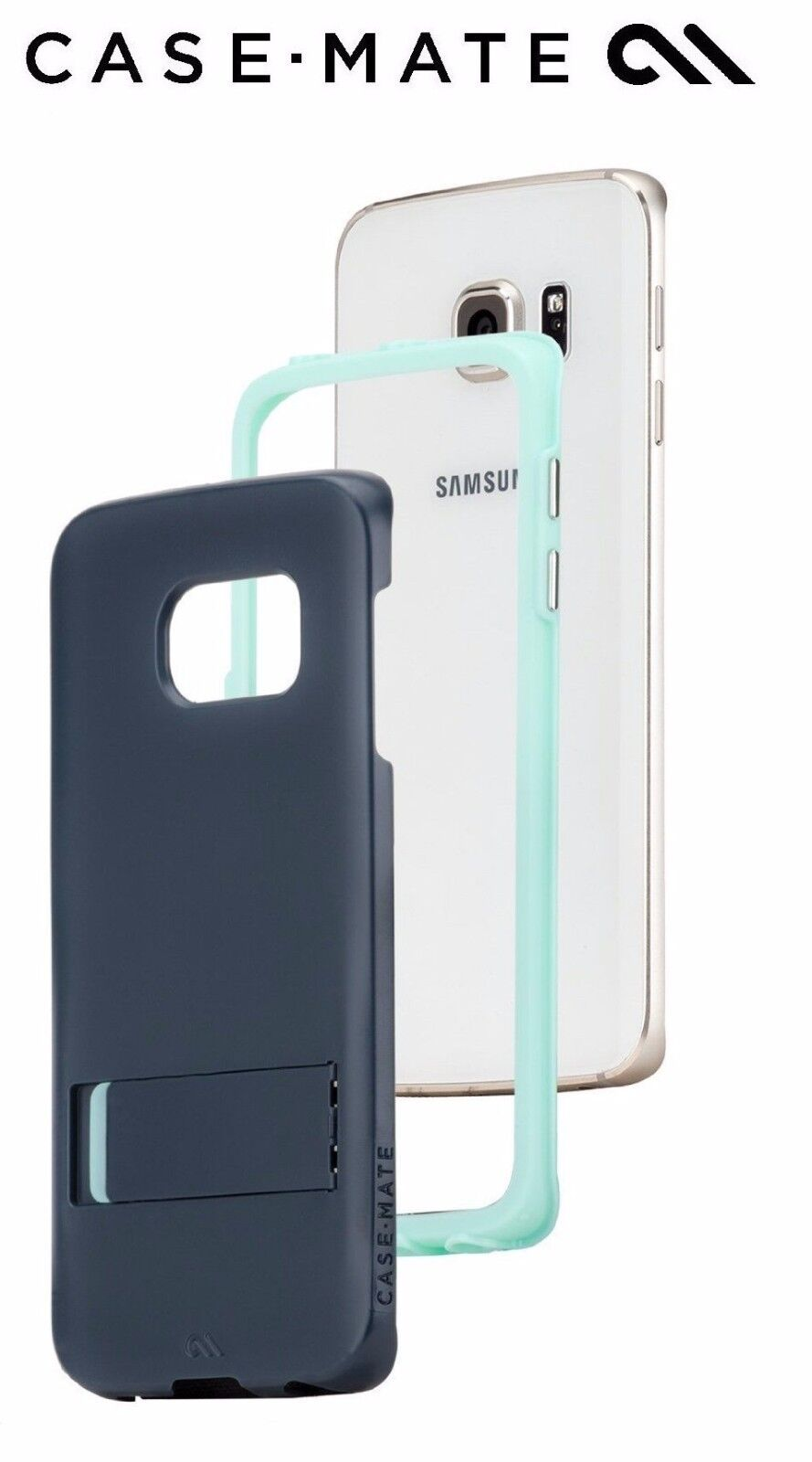 Case Mate Tough Stand Case Cover Kickstand For Samsung Galaxy S6 Edge Teal