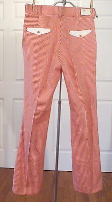 Vintage 60s 70s Slacks Pants Trousers Mod Strip Flares Dead Stock 33 X 32