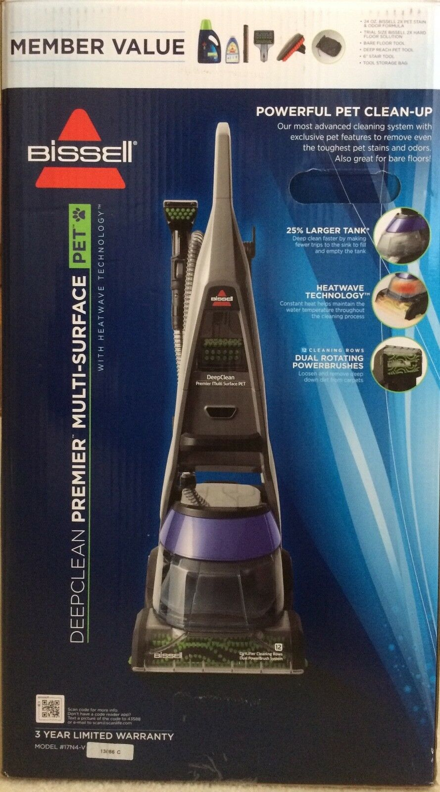 New BISSELL DeepClean Premier Pet Carpet Cleaner, 17N4-V