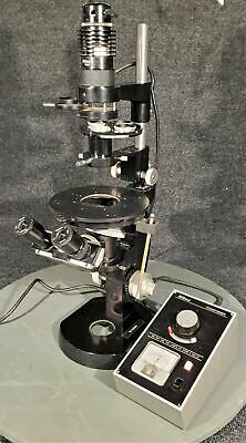 Vintage Nikon Inverted Microscope W Light Source