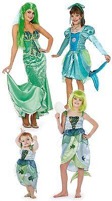 Fisch Ariel Nixe Meerjungfrau Kostüm Kleid Arielle Prinzessin Wasser Fee Kinder