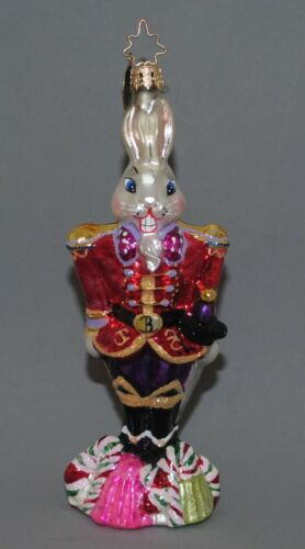 Christopher Radko Nutcracker Sweet Billy Bunny Rabbit Christmas Ornament 2002